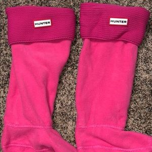 Pink hunter book socks!